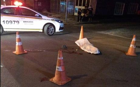 Idoso morre ao ser atropelado por motocicleta em Santa Maria